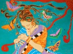 Cuadro soraya arte Naïf maternidad
