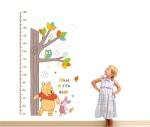 Hot-Sale-Cartoon-Winnie-the-Pooh-owl-tree-height-table-wall-stick-for-Kids-Room-Home