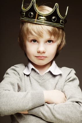 little boy with crown